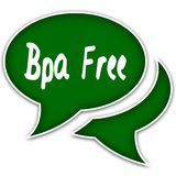 Green speech balloons with BPA FREE text message. royalty free illustration