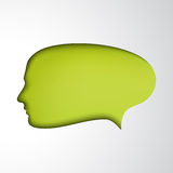 Green speech bubble. Concept face Stock Photo