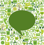 Green speech bubble Royalty Free Stock Image
