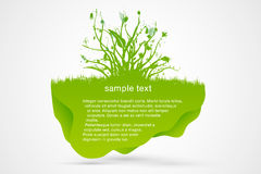 Green Speech Bubble with a flowers Stock Photography