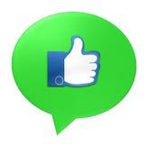 Green Speech Bubble like Stock Photo