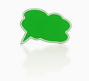 Green speech bubble Royalty Free Stock Images