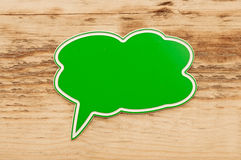 Green speech bubble Royalty Free Stock Photo