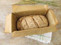 Green spelt bread in baking form Stock Photo