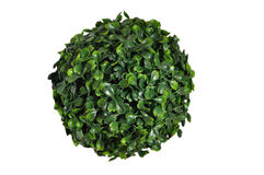 Green sphere isolated on white background Royalty Free Stock Images