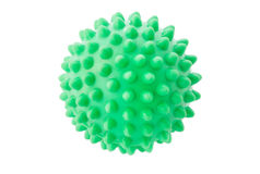 The green sphere with spikes. The green sphere with spikes on a white background Royalty Free Stock Photos