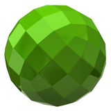 Green sphere. With square faces Stock Photo