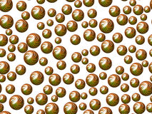 Green spheres on white background royalty free stock image