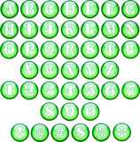 Green Spherical Fonts Stock Photography