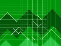 Green Spikes Background Means Grid Zigzags And Data Royalty Free Stock Images