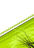 Green Spiky Background. A bright green floral background with spiky design Stock Photography