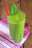 Green spinach smoothie Stock Photos