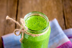 Green spinach smoothie Royalty Free Stock Image