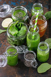 Green spinach smoothie Stock Images
