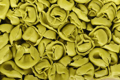 Green spinach tortellini Stock Photography