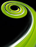Green Spiral Stock Photography