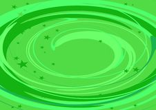 Green spiral Royalty Free Stock Image