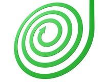 Green spiral arrow business motion concept. 3d Stock Photos