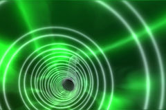 Green spiral with bright light Royalty Free Stock Image