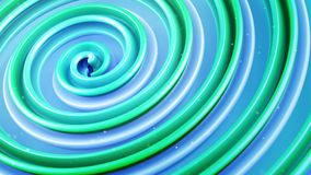 Green spiral curve abstract 3D render. Green spiral curve. Computer generated absrtact 3D render Royalty Free Stock Images