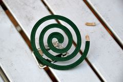 The green spiral incense Stock Images