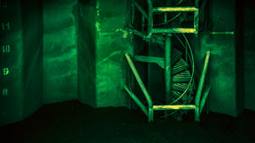 Green spiral stairs - DSC02796 Stock Photography