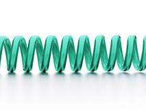 Green spiral string rendered on white Royalty Free Stock Image