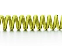 Green spiral string Royalty Free Stock Image