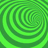 Green Spiral Striped Abstract Tunnel Background Stock Photo