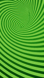 Green Spiral Striped Abstract Tunnel Background Stock Image