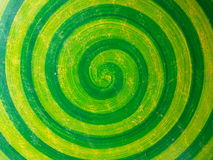 Green Spiral texture. Royalty Free Stock Image