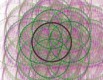 Green spiral and violet background royalty free stock image