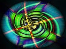 Green spiral wave Stock Photos