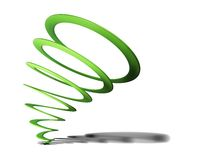 Green spiral on white Royalty Free Stock Photo