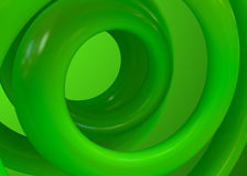 Green Spirals abstract background Stock Images