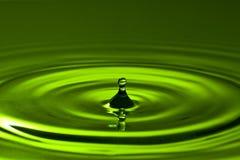 Green splash Stock Photo