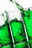 Green splash Royalty Free Stock Images