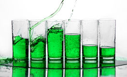 Green splash Stock Photography