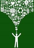 Green splash concept Stock Image