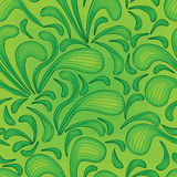 Green splash line seamless pattern Royalty Free Stock Photography