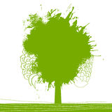 Green splash tree illustration Stock Photos