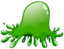 Green splash on white Stock Image