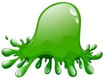 Green splash on white Stock Image