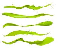 Green splashes Stock Image