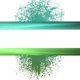 Green splatter copyspace background Royalty Free Stock Photography