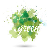 Green splatter element Royalty Free Stock Images