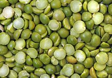 Green split pea Royalty Free Stock Images