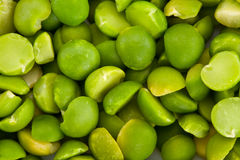 Green Split Peas from Above Royalty Free Stock Photos