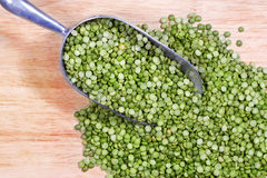 Green Split Peas in Scoop stock image