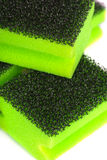 Green sponges Royalty Free Stock Photos